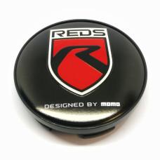 56.5mm REDS by MOMO diska vāciņš black/red  (CAP-242)