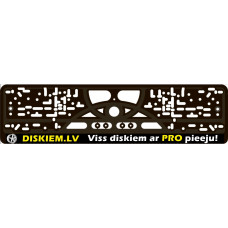 MELNS Auto numura turētājs ar DISKIEM.LV logo