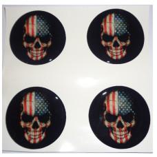 USA FLAG SKULL 3D vāciņu uzlīmes