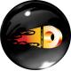 FIRE DISKIEM.LV 3D diska vāciņa uzlīmes