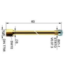 Ventīļpagarinātājs metāla 54 mm