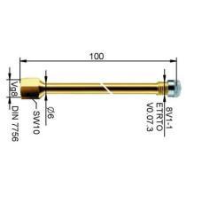 Ventīļpagarinātājs metāla 94 mm