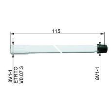 Ventīļpagarinātājs plastmasas115 mm