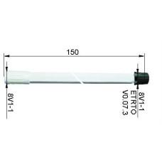 Ventiļpagarinātājs plastmasas150 mm
