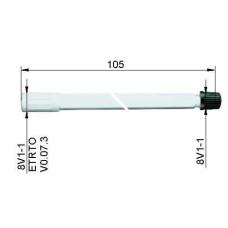 Ventīļpagarinātājs plastmasas105 mm