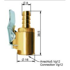 Riepu pumpēšanas nipelis8 x 15 mm