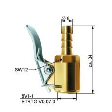 Riepu pumpēšanas nipelis8 mm