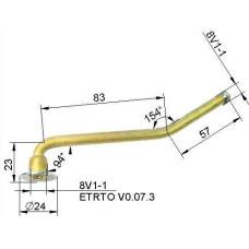 Kameru ventīlis VG8 140 mm (liekts)