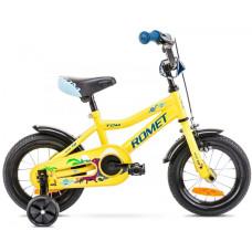 "Bērnu divritenis Romet Tom 12"" 2021 yellow-blue"