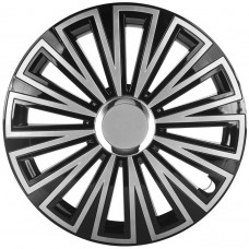 """Dekoratīvā riteņu uzlika SUNSET Black & Silver chrome 16"""""""